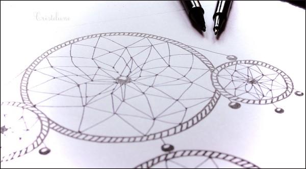Populaire Cadre attrape-rêves : petit tutoriel - Anicroche - LE CARNET DE  UP37